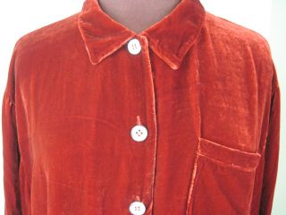 Kiko Crushed Velvet Wine Red Shirt One Size