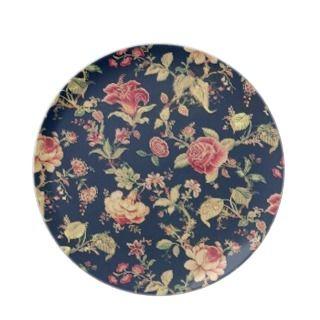 VIntage Elegant Floral Rose Plate