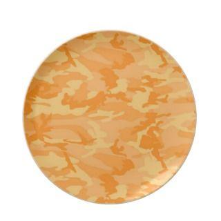 Orange Camo Dinner Plate