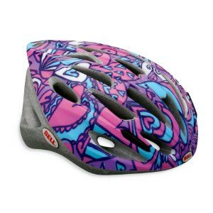 2012 TRIGGER Cycling Youth Kids Bike Helmet Teal/Pink Hearts Universal