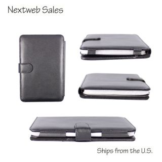 Leather Case Cover for 6  Kindle 3 Keyboard Wi Fi 3G