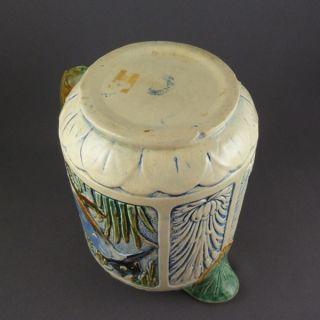 Weller Pottery Zona Kingfisher Pitcher