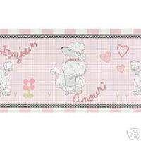 Kimberly Grant Ooh La La Wall Border Poodle Paris Pink