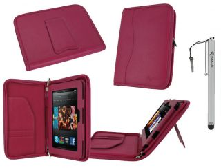 Executive Leather Case Cover with Stylus for Kindle Fire HD 7