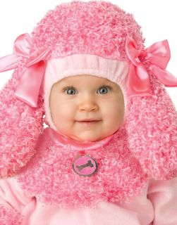 Cute Infant Baby Girls Pink Precious Poodle Puppy Dog Halloween