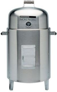 New Brinkmann Double Stainless Charcoal Smoker Grill