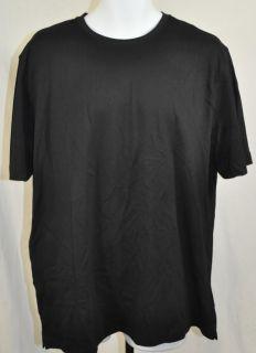 Kirkland Mens Premium Pima Cotton Short Sleeve Crew Neck T Shirt Black