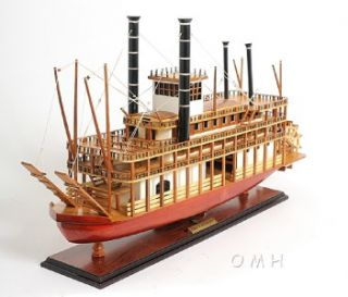 King of Mississippi Paddlewheel Steamboat Wooden Riverboat Model 30