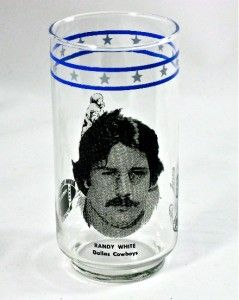 1978 Burger King Randy White Dallas Cowboys Glass