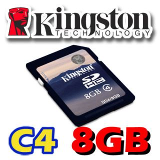 Kingston 8GB 8g SD SDHC Class 4 Secure Digital Flash Memory Card