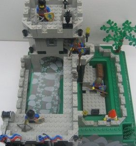 Lego 6081 Kings Mountain Fortress Castle Set Vintage 1990 8 Minifigs