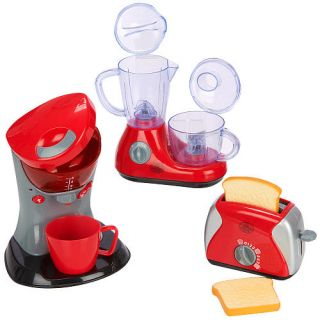 Kids Coffee Maker Toaster Food Processor Playhouse Working Kitchen