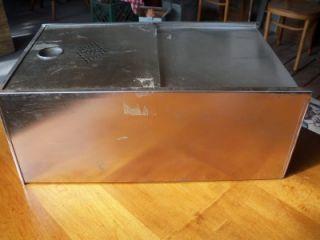 Vintage Hoosier Type Metal Tin Bread Box Kitchen Cabinet Drawer