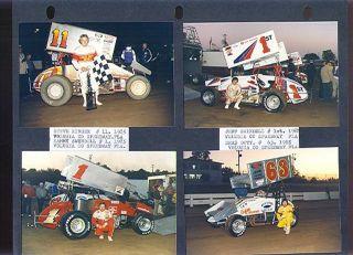 1985 Steve Kinser Jeff Swindell Jeff Gordon+ Racing Photos EX (Sku