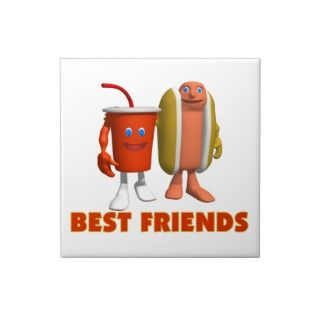 Best Friends Hot Dog & Soda Tiles