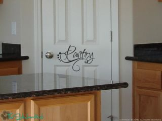 Pantry Kitchen Vinyl Wall Stickers Decals Words Letters Text 1014