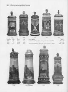 Mettlach ID Book Antique German Beer Steins Vases Marks