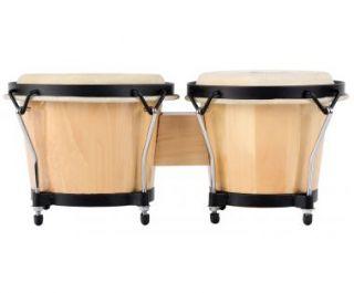 Xdrum Bongo Club Natur Percussion Bongos Schwarze Hardware Trommel
