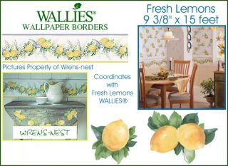 Wallies Yellow Lemon Kitchen Decor Wallpaper Border