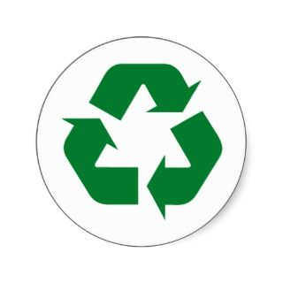 Recycle Products & Ecology Designs! Round Stickers