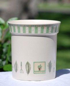 Naturewood Gadget Crock Kitchen Utensil Holder Flower Pot