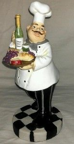 Italian Bistro Statue Jumbo Big Large Figurine Kitchen Decor
