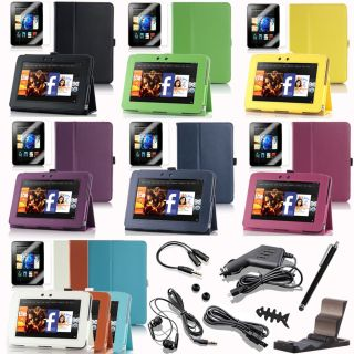 Kindle Fire HD 7 inch Tablet PU Leather Case Cover with Stand / Screen