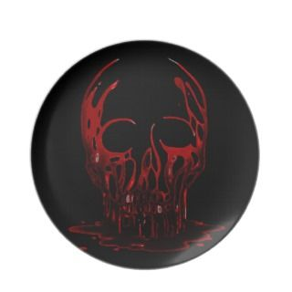 Bloody Skull Party Plates