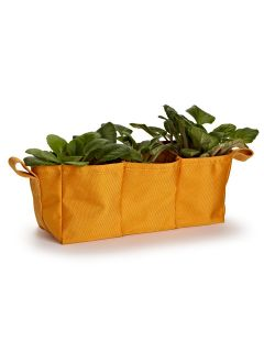 Large 12 Orange Polyester Triple Garden Bag Hanging Flower Pot