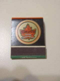 Early Supertest Unused Matchbook E V Richards Kitchener Ontario