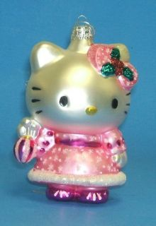 Hello Kitty Glass Christmas Tree Ornament New Cat Holiday Decoration