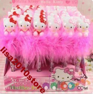2X Mixed Cute Hello Kitty Light Up Ball Point Ballpoint Gift Pen