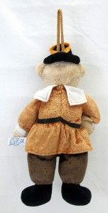 Thanksgiving 14 Aurora Plush Pilgrim Door Decor Teddy Bear Stuffed