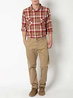 Dockers Long sleeved flannel checked shirt Red