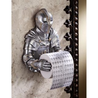 Medieval Flair Knight in Armor Wall Mounted Bathroom Toilet Tissue