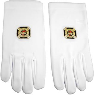 Knights Templar Emblem Mens Ritual Gloves