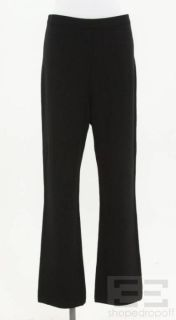 St John Black Santana Knit Short Sleeve Jacket Pants Size 4