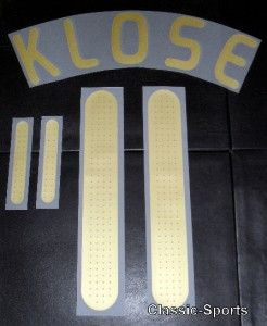 Germany Klose 11 Football Shirt Name Set Kit Euro 2008