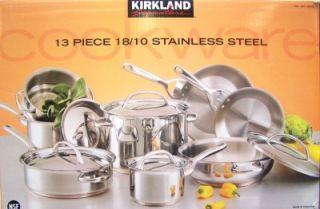 Kirkland Signature 18 10 Stainless Steel 13 Piece Cookware Set