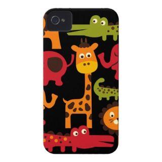 Cute Safari Jungle Zoo Animals Print Gifts iPhone 4 Covers