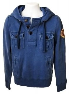 Abercrombie & Fitch AF Mens Pocket Pullover Fleece Hoodie Sweatshirt