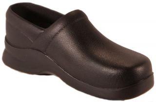 Klogs Boca Black Full Back Work Clogs Womens Slip Resistant Shoes