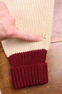 Vtg Heavy Knit 40s Wool College Sport Cardigan Sweater Letterman