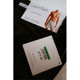 Calvin Klein Mens Relaxed Fit Knit Boxer BXR Matrix Large 36 38 Black