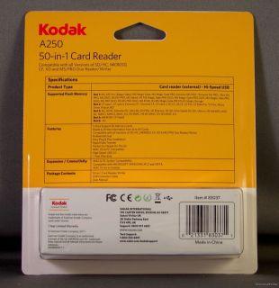 Kodak 83037 A250 50 in 1 PC Mac OS Universal Card Reader Writer for