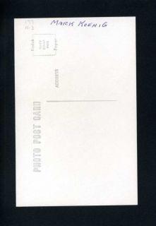 Mark Koenig Real Photo Postcard 1932 33 Chicago Cubs George Burke