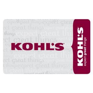 Kohls Gift Card Value $50 00 Unused