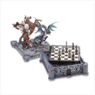 Dragon Knight Medieval Fortress Battle Castle Chess Set Board Game