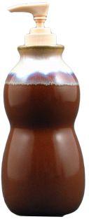 Chocolate Brown Soap Lotion Dispenser Utensil Jar Kitchen Bath Set