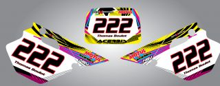 Brand New Custom Graphic Kit NEON STYLE to suit any of the pit bikes